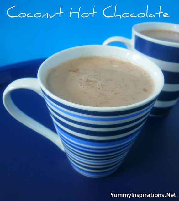 Coconut Hot Chocolate - Yummy Inspirations