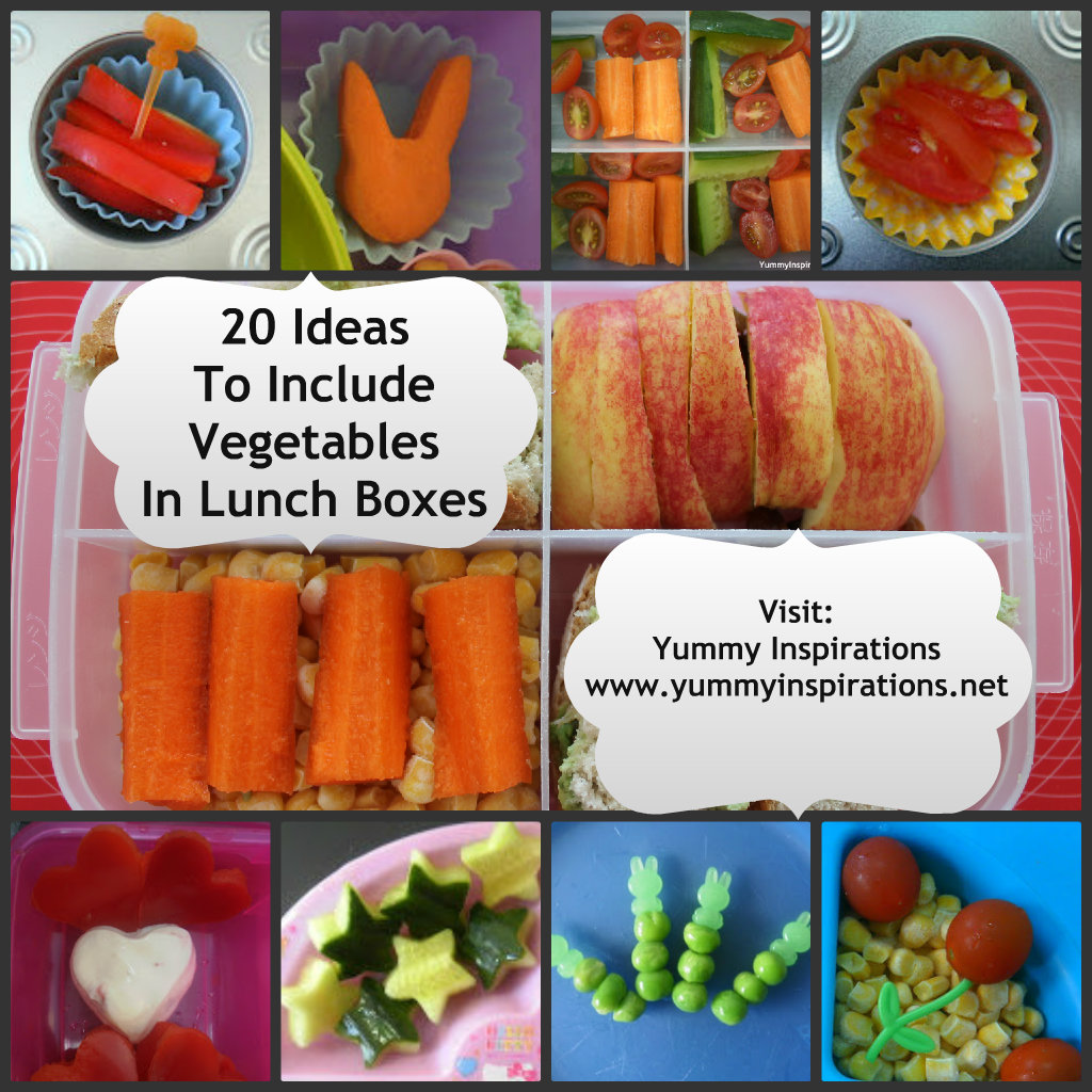 20 Ways To Get Kids To Eat More Veggies In Their Lunch Boxes