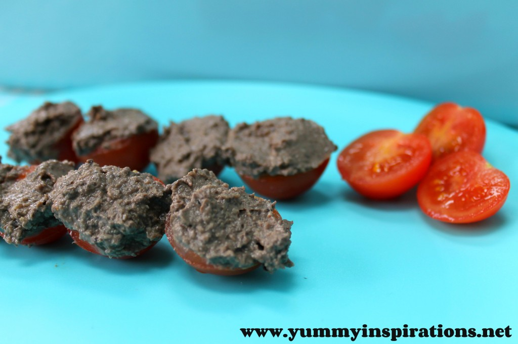Chicken Liver Pate On Tomatoes