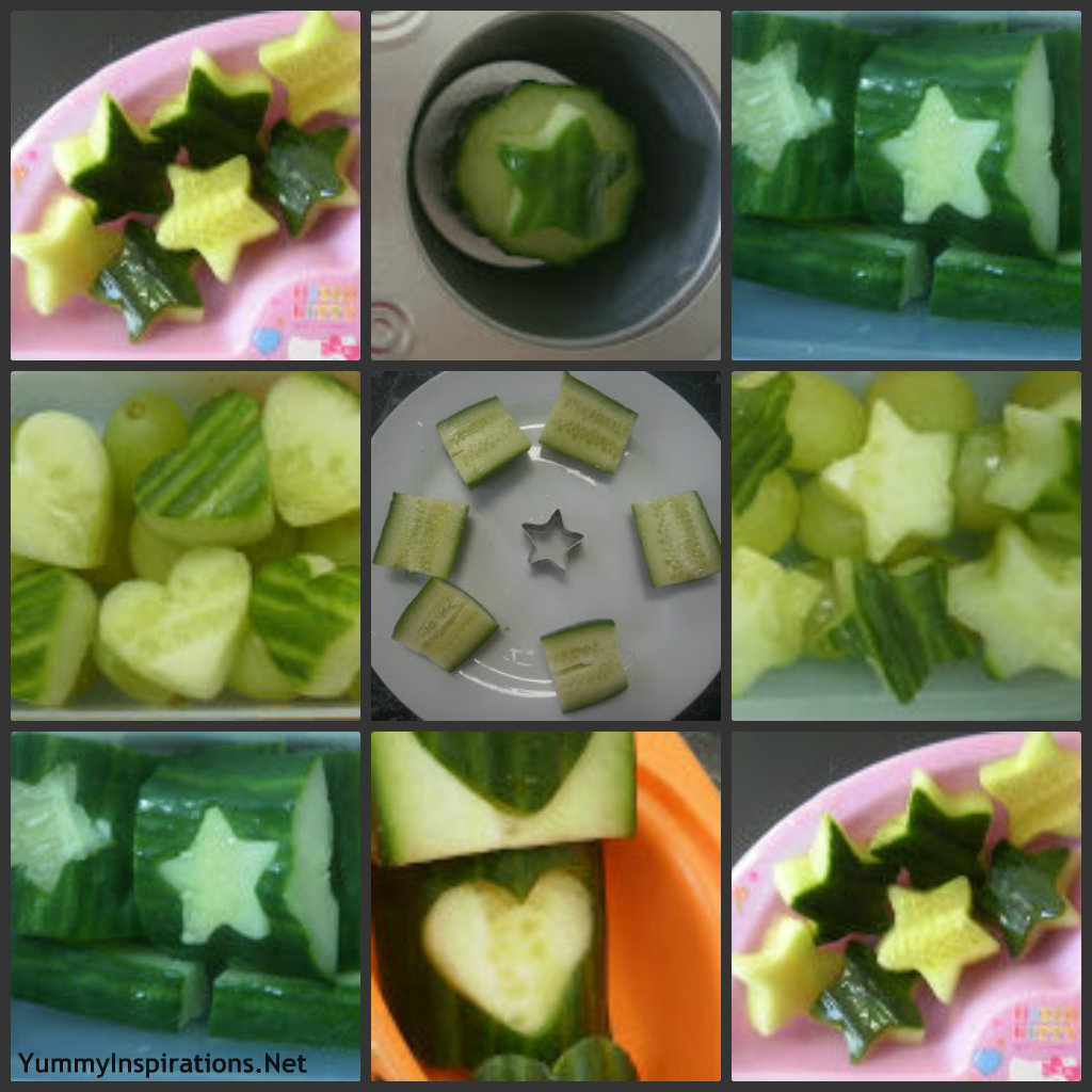 Cucumber Collage Lunch Box Vegetable Ideas