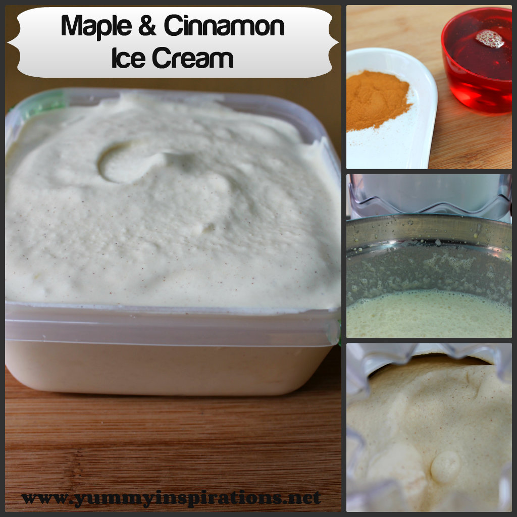 Maple and Cinnamon Ice Cream Recipe Collage