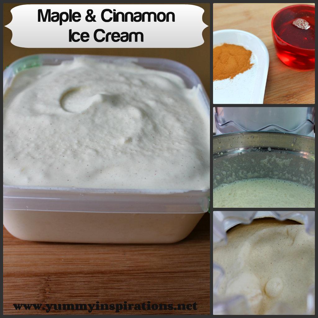 Maple and Cinnamon Ice Cream Recipe Collage