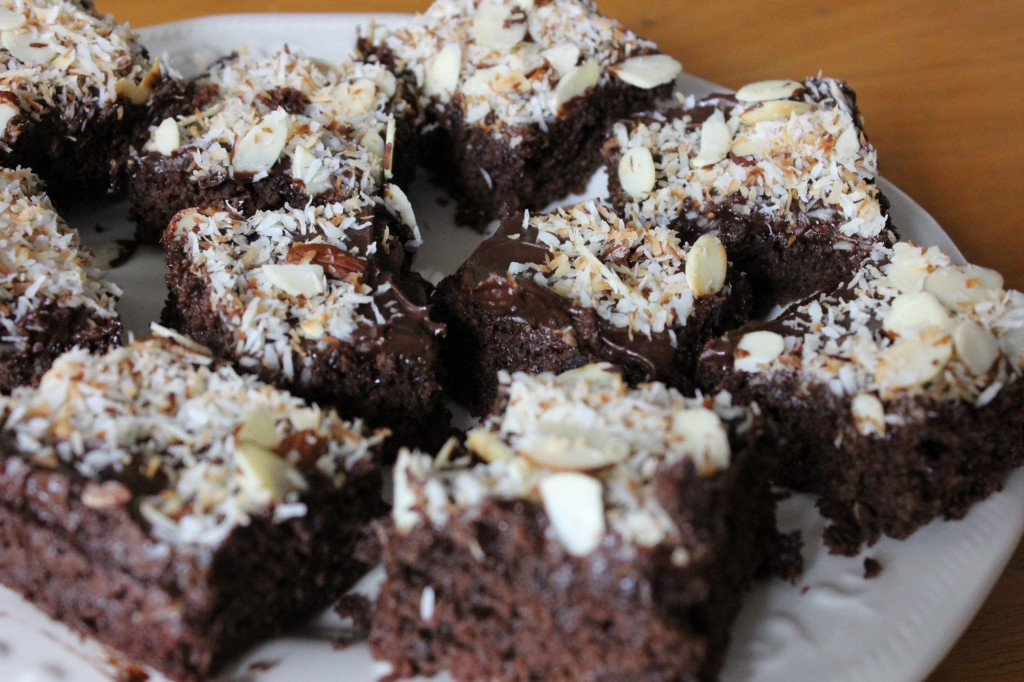 Paleo Almond Joy Brownies
