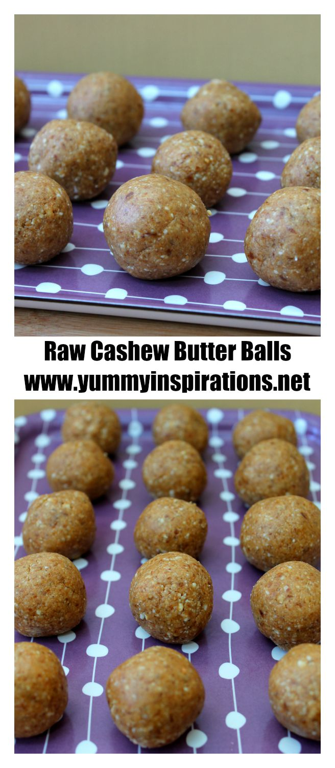 Raw Cashew Butter Balls