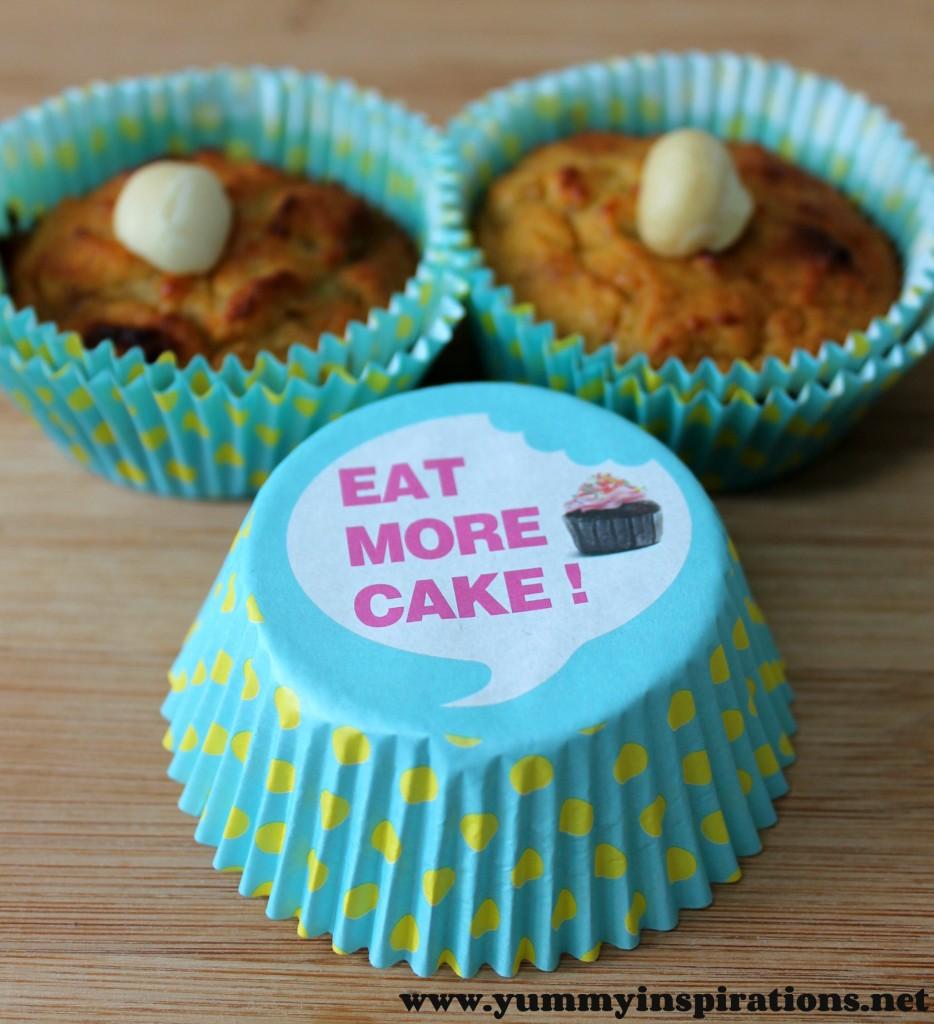 Banana Macadamia Muffins Cupcake Liners
