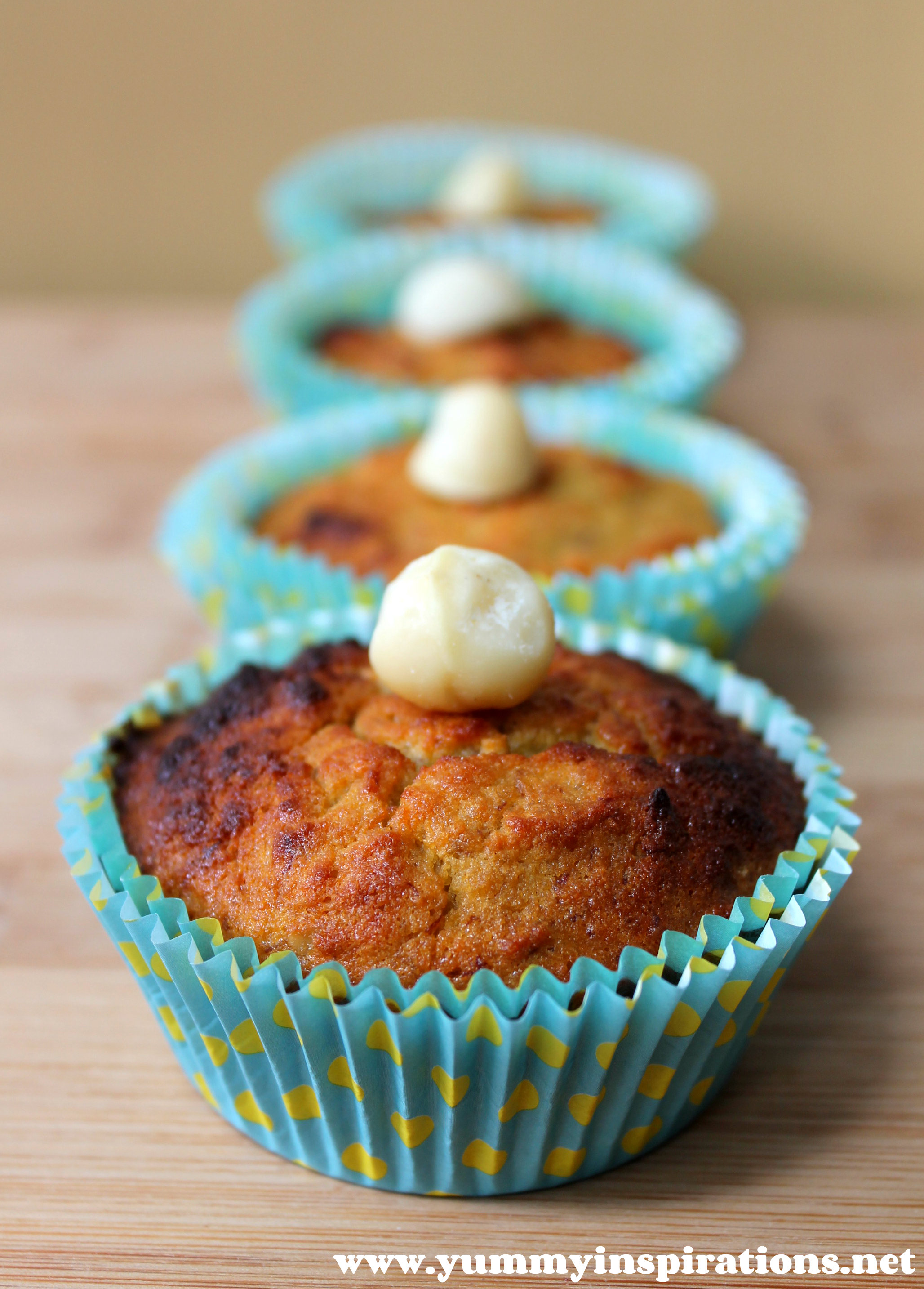 made these Grain Free Banana and Macadamia Muffins as an afternoon ...