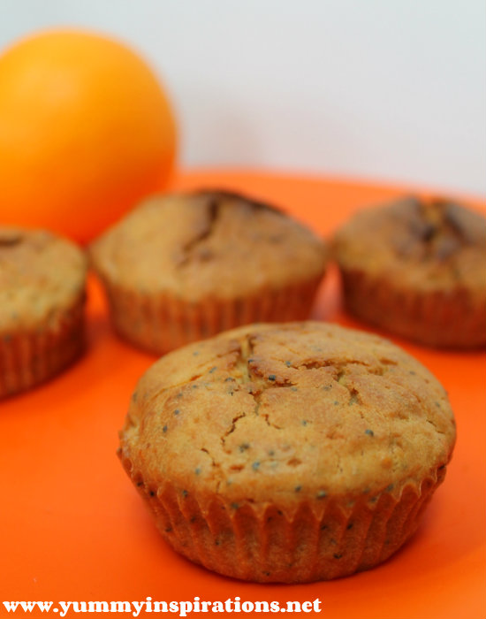 Orange Poppy Seed Muffins - made with healthy, real food ingredients.