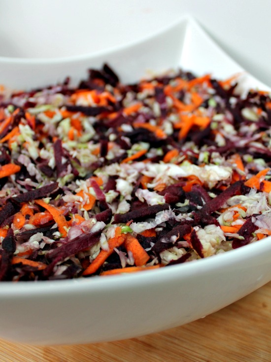 Multi Coloured Carrot And Cabbage Salad