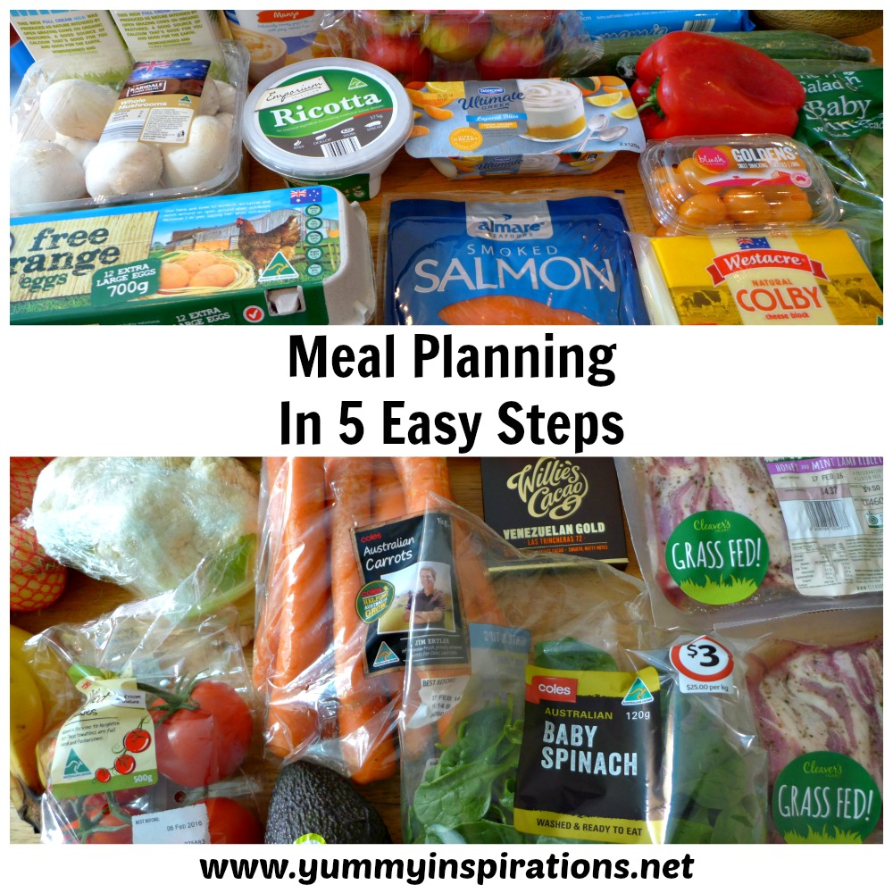 Meal Planning in 5 Easy Steps