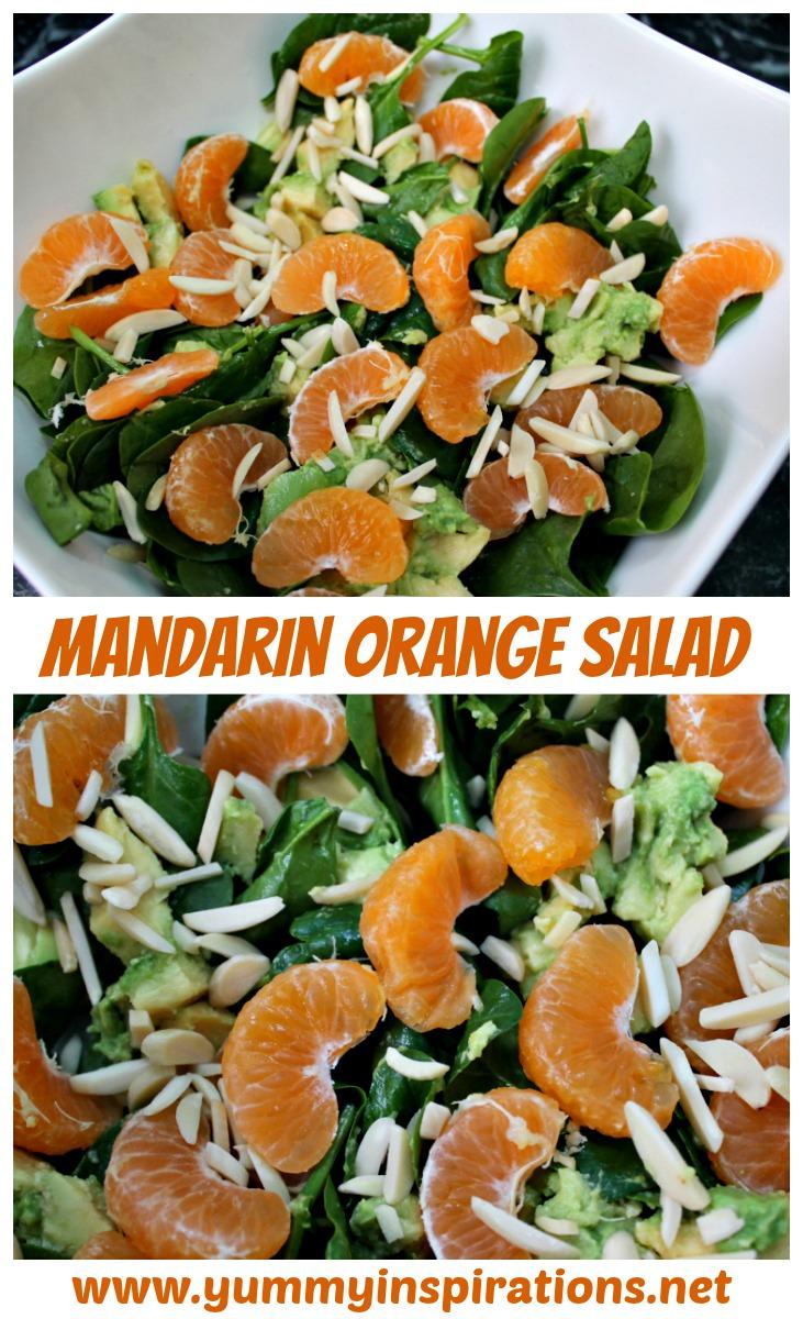 Mandarin Salad with 4 Ingredients - easy, healthy salad recipe