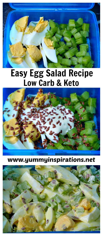 Easy Egg Salad Recipe + Video Tutorial - Low Carb Keto