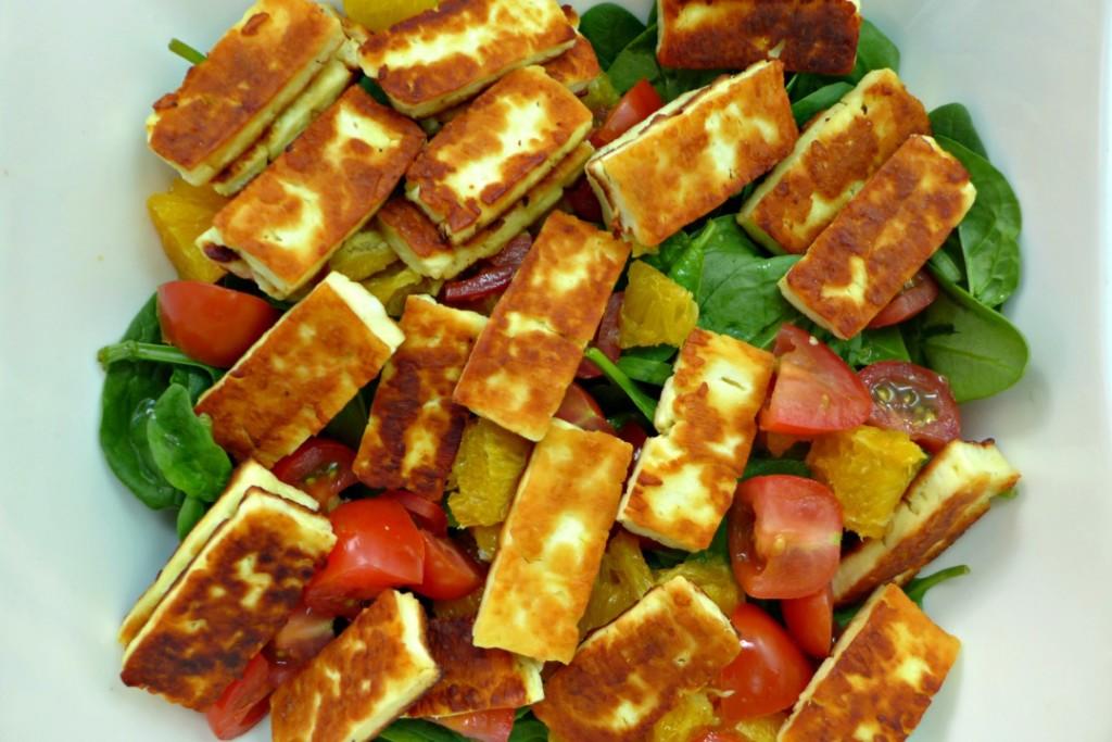 Halloumi Salad Recipe and Video