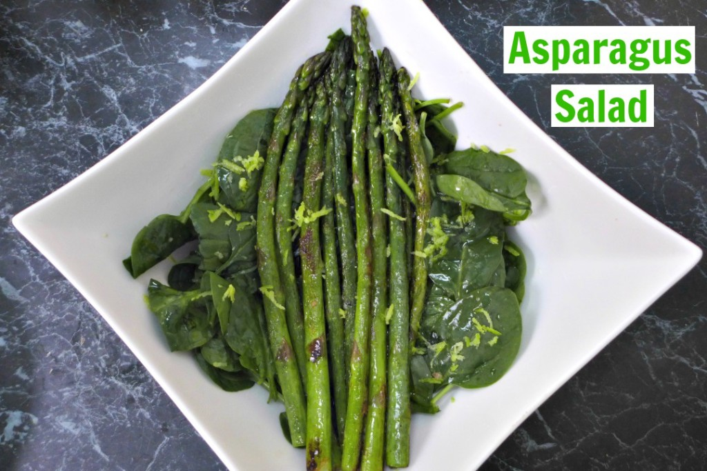 Lemon and Asparagus Salad Recipe + Video - Cooking asparagus in a pan and constructing an easy salad with fresh lemon flavours.