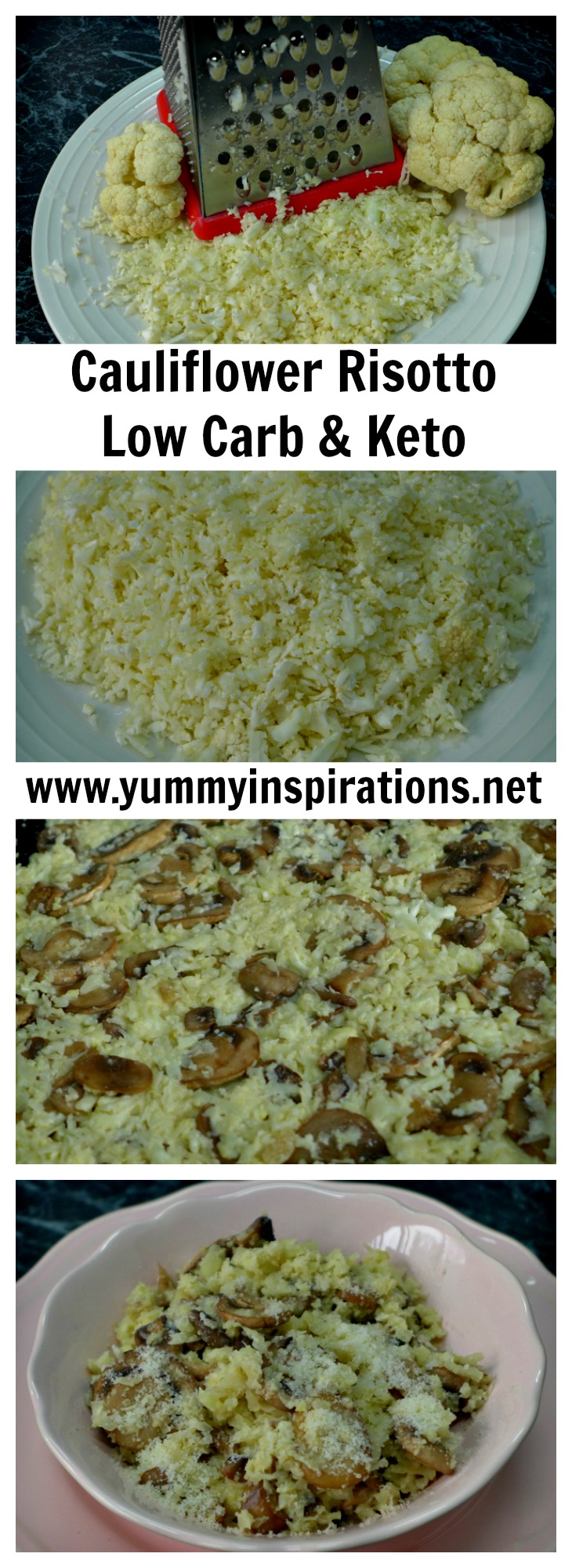Creamy Mushroom and Cauliflower Risotto Recipe + Low Carb Keto Diet Full Day of Eating