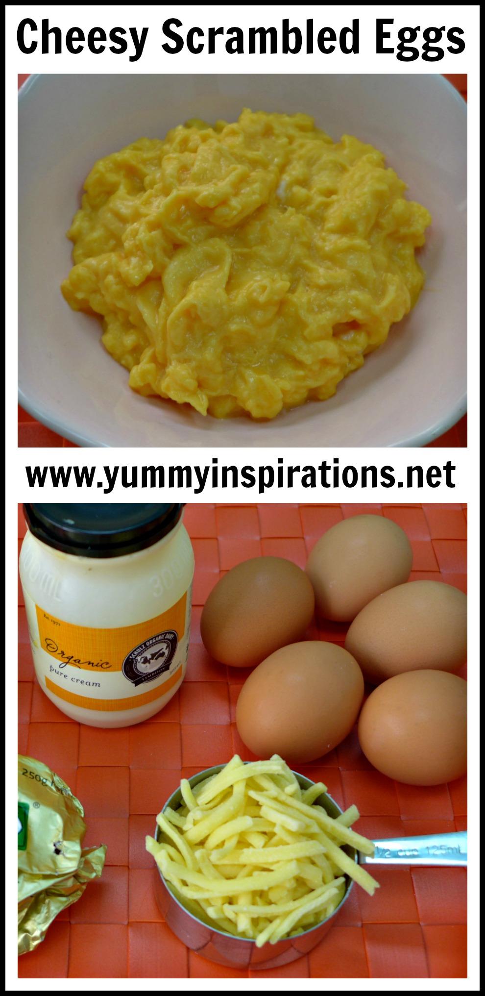 Easy Cheesy Scrambled Eggs Recipe + Video