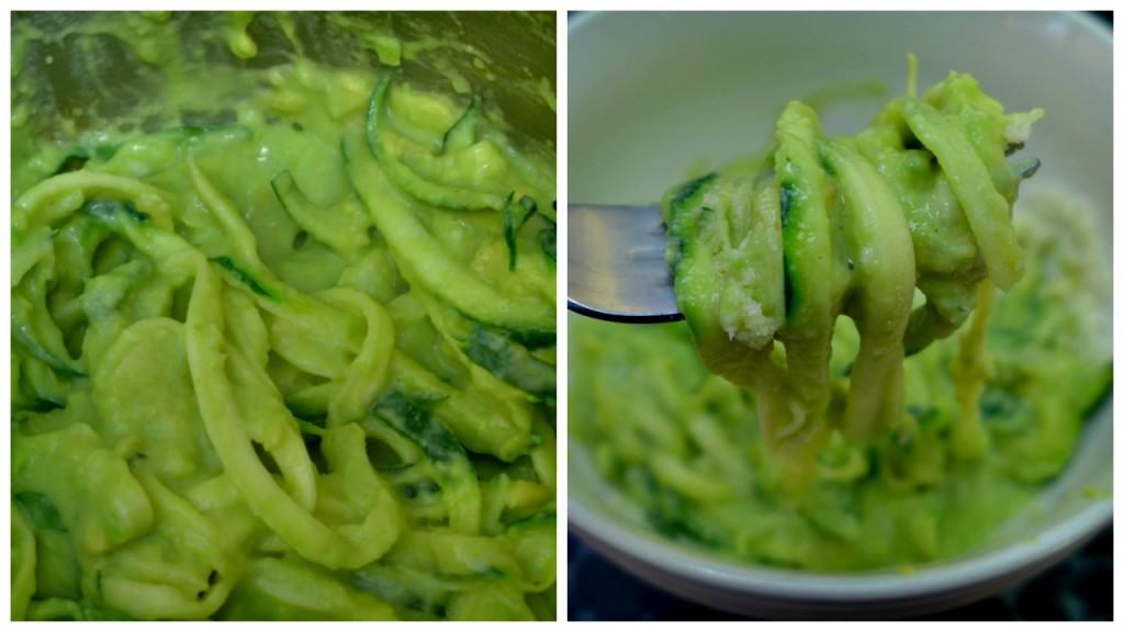 Zucchini Pasta Recipe - Creamy Avocado Zoodles - Easy Low Carb Keto Zoodles Recipe + Video Tutorial - How to cook low carb zucchini noodles.