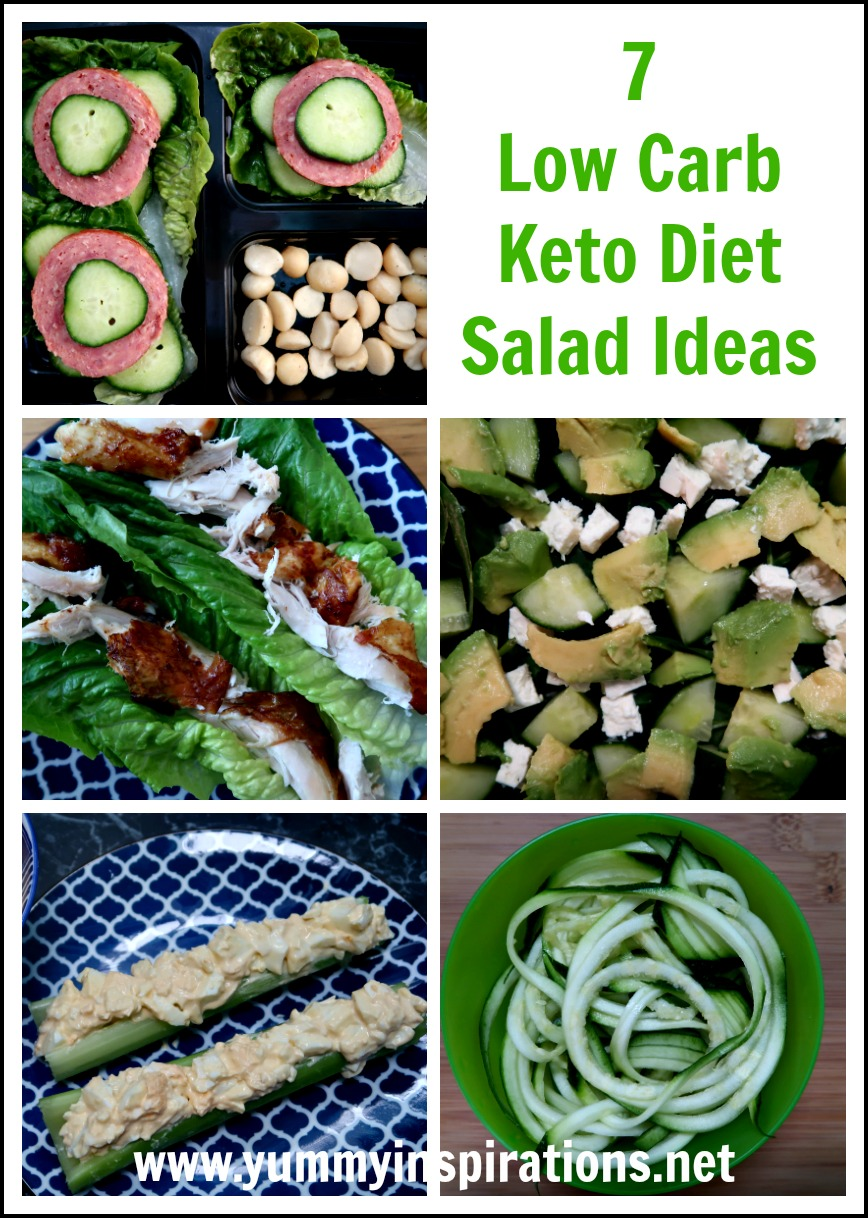7 Low Carb Salad Ideas - A Week Of Keto Diet Salads Recipes - with recipes & video of all of the best low carb salads including chicken, egg, tuna and more!