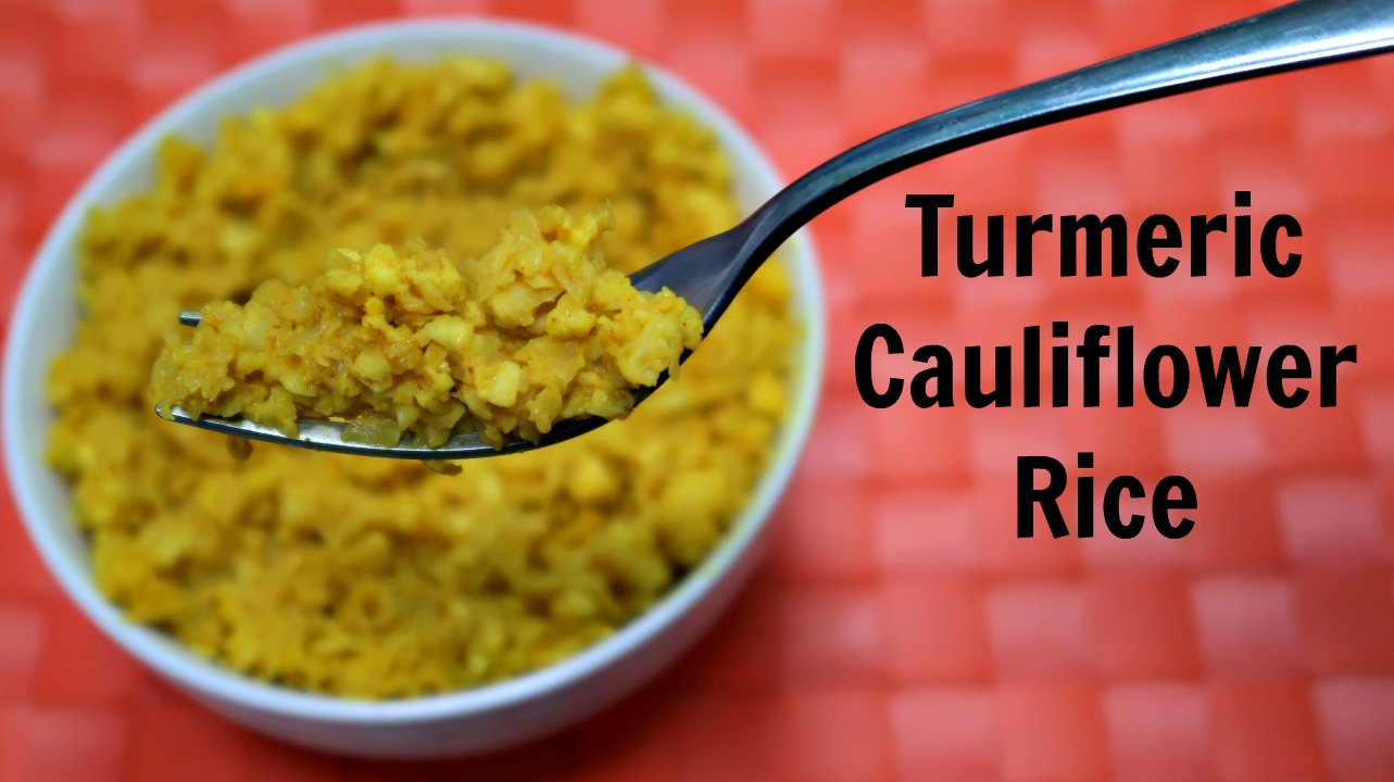 Turmeric Cauliflower Rice Recipe + Video - Low Carb, Keto Diet - an easy, healthy nourishing cauliflower rice recipe that can be dairy free & paleo too!