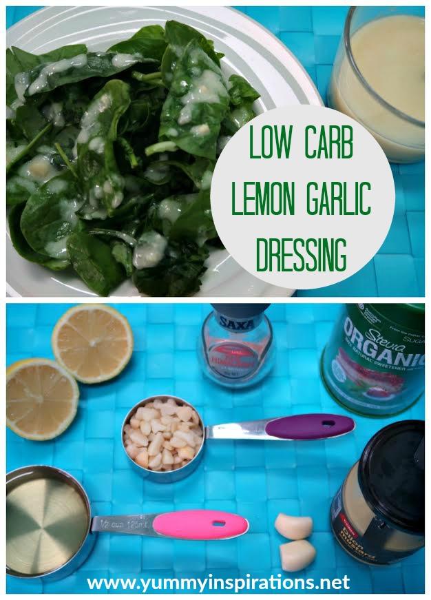 Lemon Garlic Low Carb Salad Dressing Recipe - Dairy Free & Keto Diet Friendly Creamy Salad Dressing Recipe and Video Tutorial.