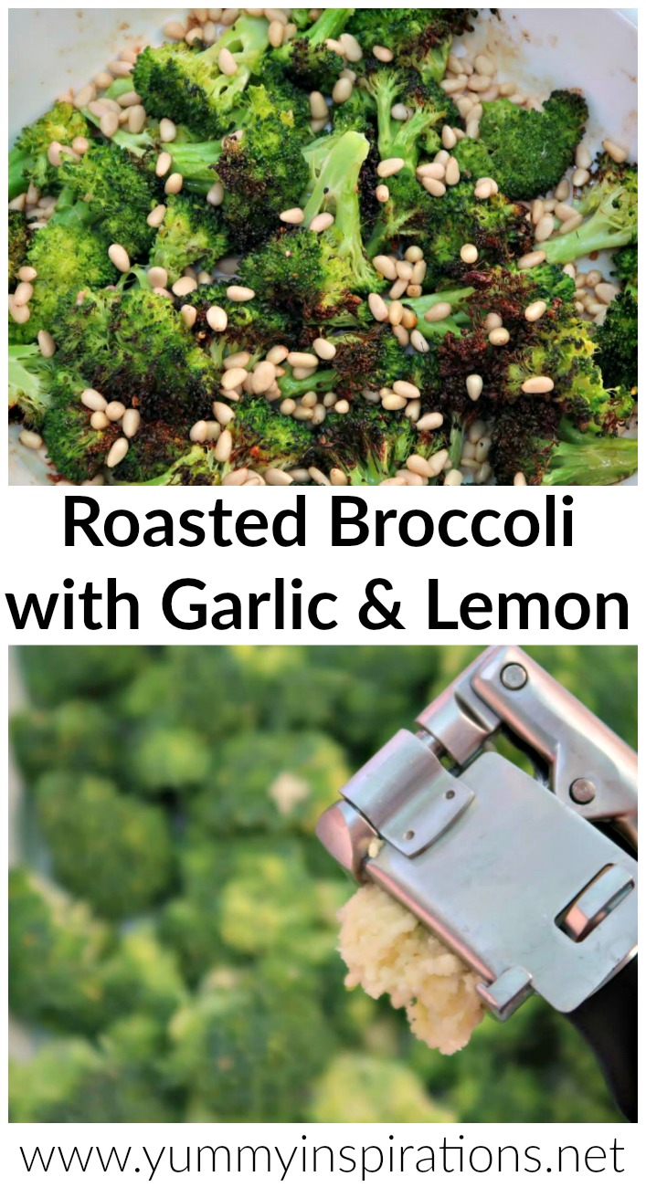Roasted Broccoli Recipe with Garlic and Lemon - full recipe and video tutorial for this low carb, keto friendly dish that can be enjoyed warm or as a salad.