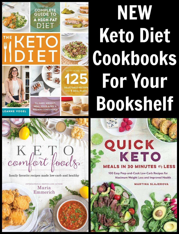 NEW Keto Cookbooks For Your Bookshelf - inspiration for your next Keto Cookbook from Maria Emmerich, Leanne Vogel and Martina Slajervo.