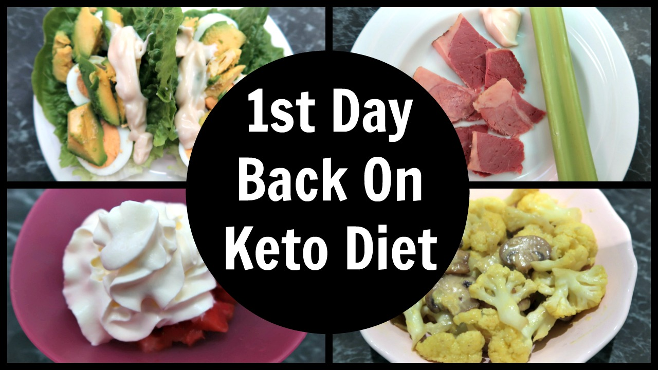 First Day On Keto Meals - Full day of low carb high fat ketogenic meals