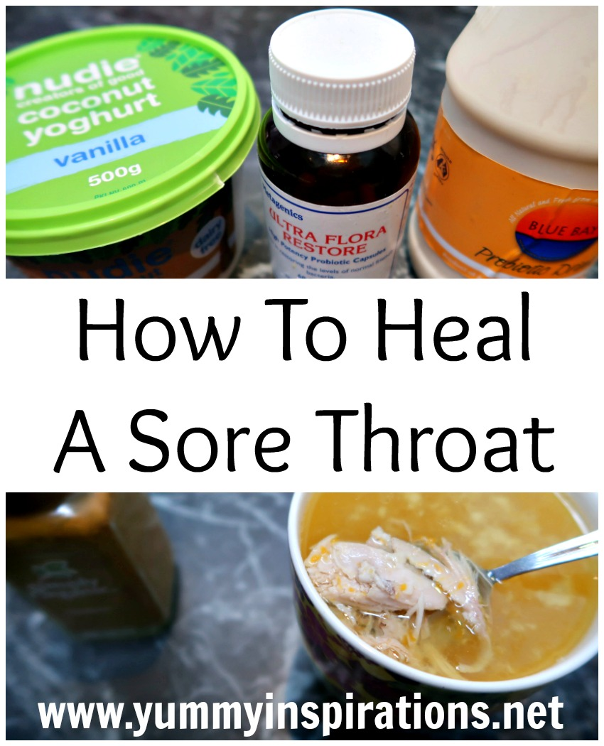 Nourishing Foods For A Sore Throat - food and drink ideas for when you have a sore throat, are sick or have a cold to heal you fast.