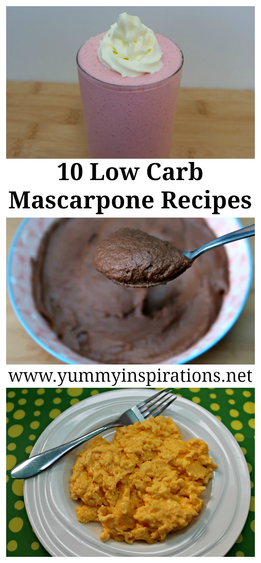 10 Low Carb Mascarpone Recipes - Keto Diet Friendly Ways To Enjoy Mascarpone Cheese - including sweet desserts and mouth watering savoury recipes.