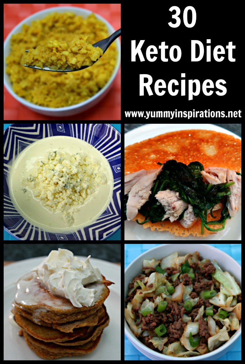 30 Keto Diet Recipes - Easy Low Carb & Ketogenic Diet Ideas