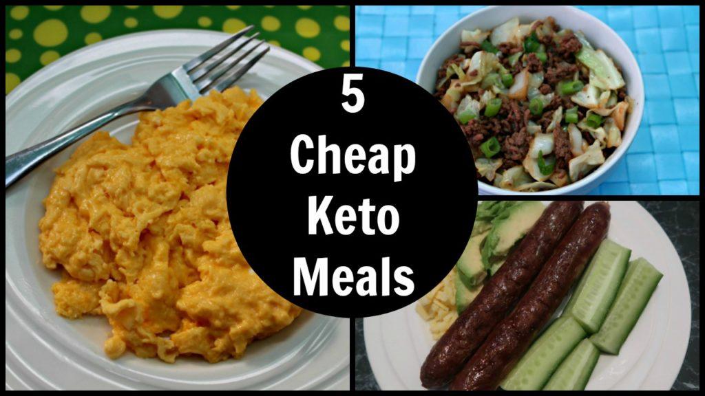 5 Cheap Keto Meals