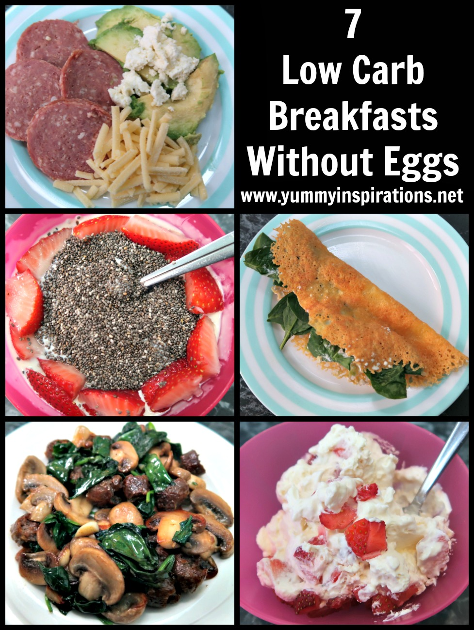 7 Low Carb Breakfast Without Eggs Ideas - Easy Keto Breakfasts With No Eggs - Eggless Ketosis Breakfast Recipes Other Than Eggs.