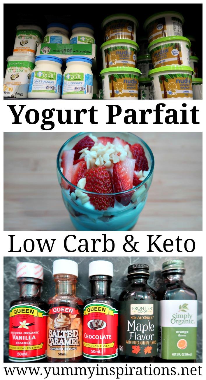 Keto Yogurt Toppings + Low Carb Parfait Recipe - Yogurt On Keto Diet