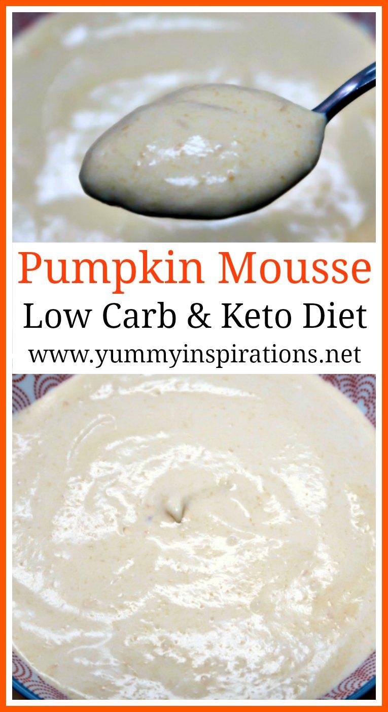 Low Carb Pumpkin Mousse Recipe - Easy Keto Pumpkin Dessert Recipes - a yummy Ketogenic Dessert