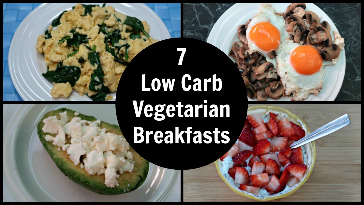 7 Keto Vegetarian Breakfast Recipes - A Week Of Easy Low Carb Diet Plan Vegetarian Breakfasts and Ideas that are all gluten free and ketogenic diet friendly.