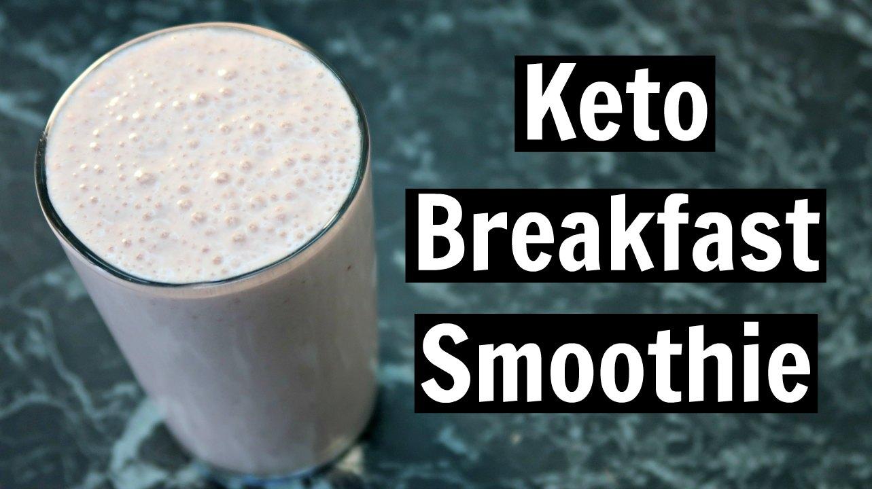 Keto Breakfast Smoothie Recipe - Low Carb Dairy Free Drinks Recipes