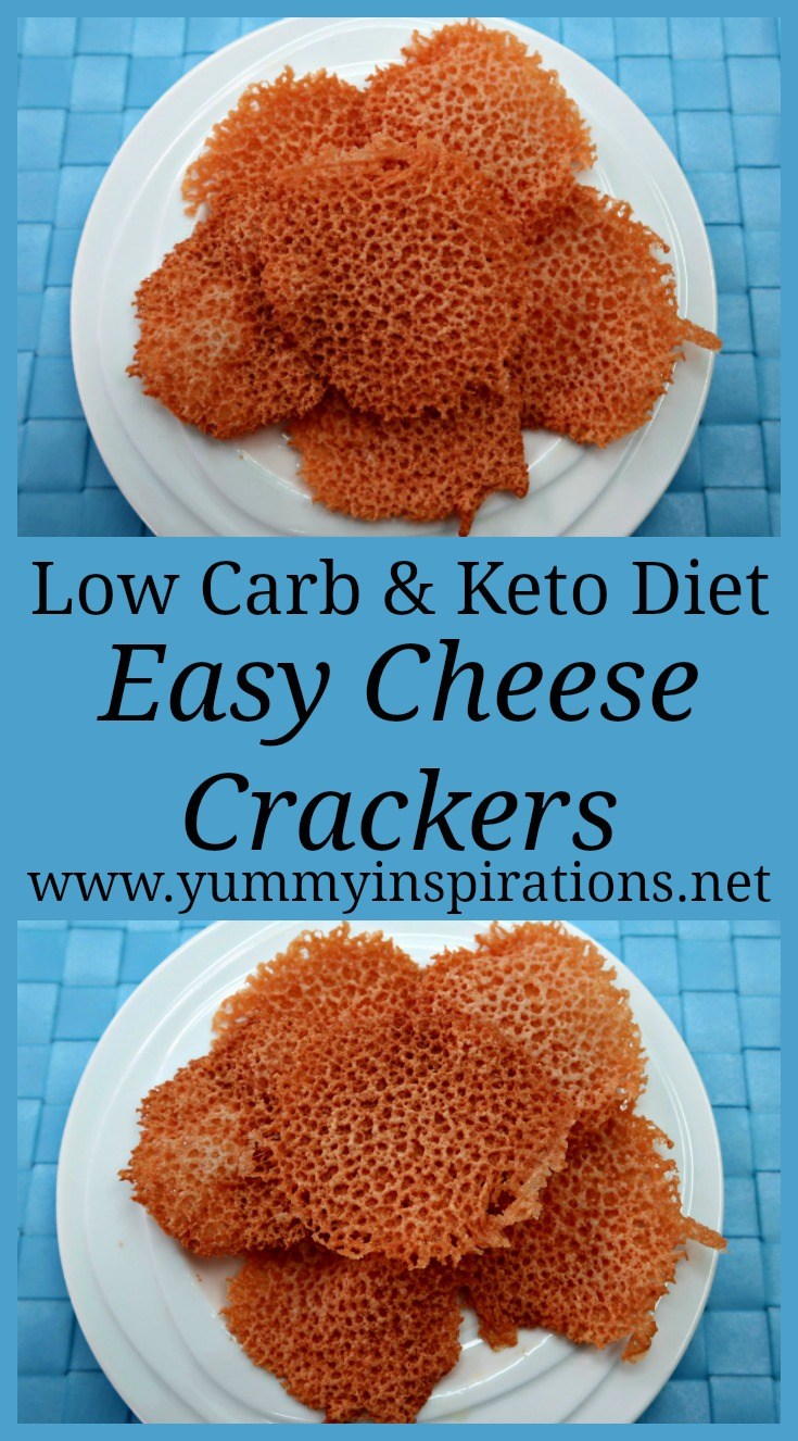 Keto Cheese Crackers - Easy Low Carb Cheese Chips Recipe - How to make crunchy LCHF Cheese Crisps with only one ingredient.