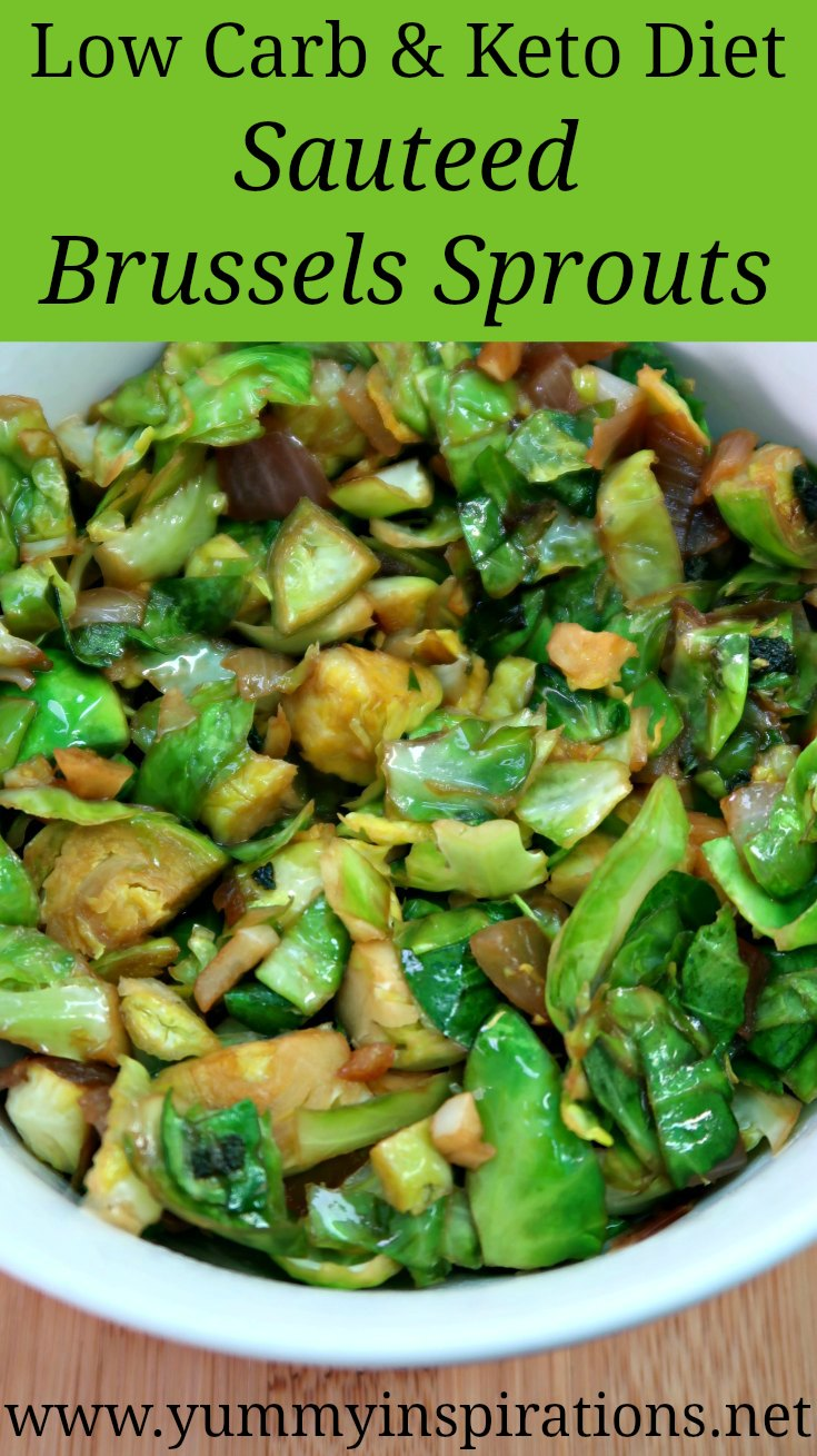 Sauteed Brussels Sprouts Recipe - Easy Low Carb Keto Friendly Fried Brussels Sprouts. Adapted from a Jamie Oliver Recipe and makes a healthy gluten free Thanksgiving side dish.